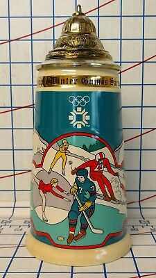 Vintage XIV Winter Olympics Sarajevo 1984 Lidded Commemorative Beer Stein
