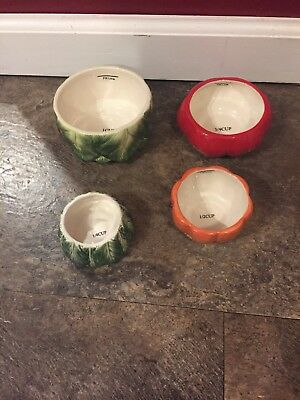 RETIRED Fitz and Floyd Classics Le Marche Vegetable Measuring Cup Complete Set!