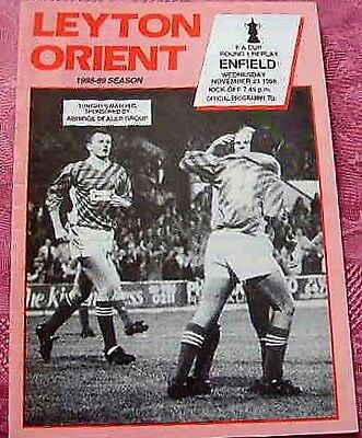 Leyton Orient  V  Enfield 1988-89 Fa Cup