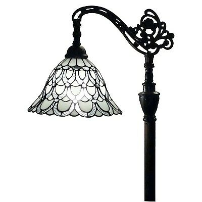 Large Floor Lamp Stained Glass Tiffany Style Accent Light Craftsman Victorian