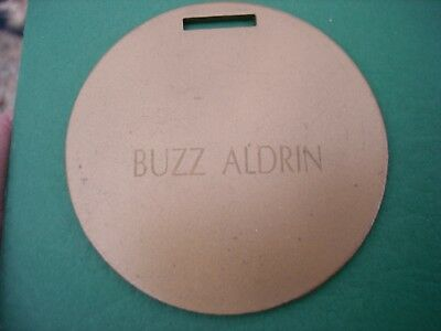 Vintage BUZZ ALDRIN'S Personal GOLF BAG TAG Collection of Mich. Golf HOF Member