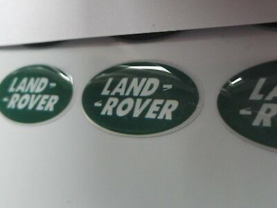 Land Rover Domed Stickers Green X5