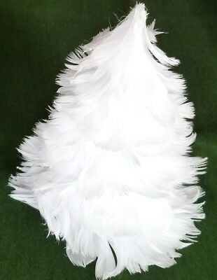 "Unusual 6"" White Feather Styled Tree Decor"