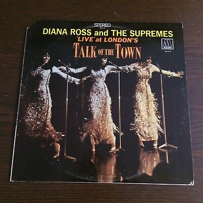 """Diana Ross & The Supremes """"Live at London's Talk of the Town"""" LP VG+/G+ Motown"""