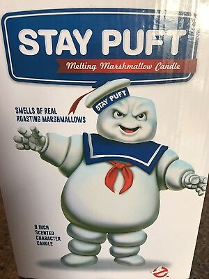 GHOSTBUSTERS Stay Puft Candle Smells Like Real Melting Marshmallow Man Scented 9