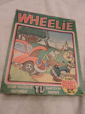 Vintage 1970s Hanna-Barbera Wheelie and the Chopper Bunch, puzzle, complete!