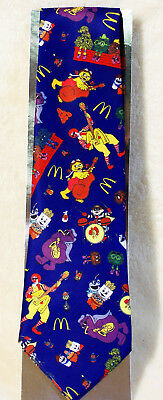 McDonald's Grimace Ronald Hamburglar Employee Manager Uniform Designer Neck Tie