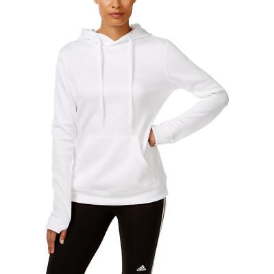 Adidas 9090 Womens White Hoodie Long Sleeves Pullover Sweatshirt S BHFO