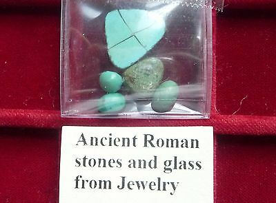 Ancient Roman stones glass from Jewelry