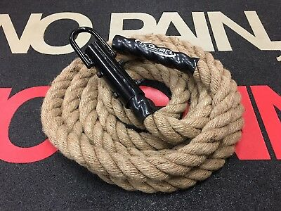 Climbing Rope with Hook 5 Mtr Crossfit Bootcamp Fitness Rope Grip Handle