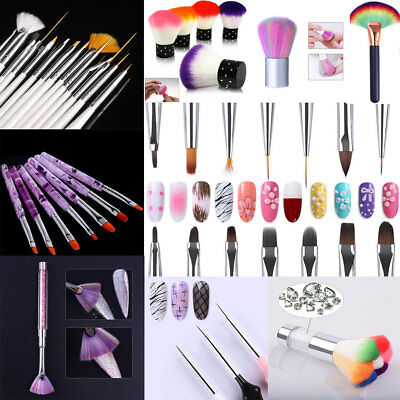 UV Gel Nail Art Brushes Polish Painting Pen Acrylic Liner Drawing Manicure Salon