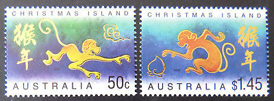 2004 Christmas Island Stamps - Lunar New Year - Year of the Monkey - Set 2 MNH