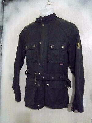 Belstaff Roadmaster Waxed Cotton Motorcycle Jacket Size It42 Ukxs