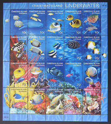 2004 Christmas Island Stamps - Underwater Sheetlet MNH