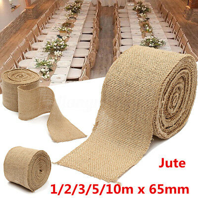 1m rouleau ruban de toile jute jute bordure dentelle bande mariage d cor diy eur 1 00. Black Bedroom Furniture Sets. Home Design Ideas