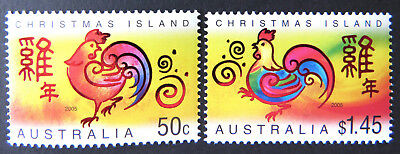 2005 Christmas Island Stamps - Lunar New Year - Year of the Rooster - Set 2 MNH