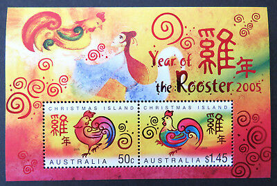 2005 Christmas Island Stamps - Lunar New Year-Year of Rooster Mini Sheet MNH