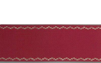 3,5 M stickband Aida Structure 70mm Red/Gold Cotton 1,43 €/ M