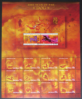 2006 Christmas Island Stamps - Lunar New Year - Year of Dog Sheetlet MNH