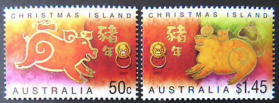 2007 Christmas Island Stamps - Lunar New Year- Year of the Pig - Set of 2 MNH