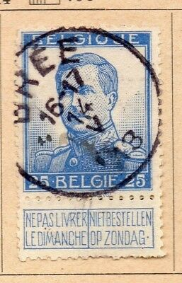 Belgium 1912/14 Early Issue Fine Used 25c. 213980