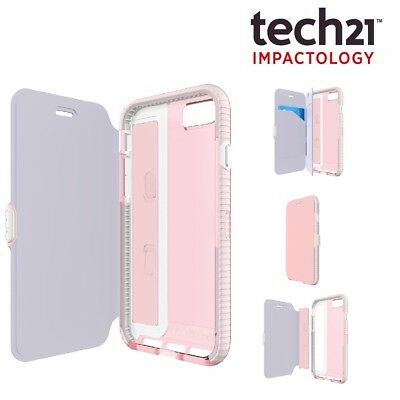 100% Original Genuine Tech21 Pink EVO Wallet Flip Case for iPhone 6/6S 7 and 8