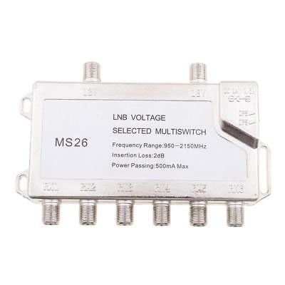 2x6 Way Diseqc Switch Satellite Multiswitch for TV Receiver