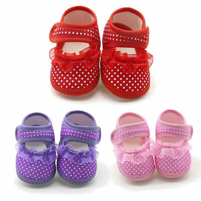 Newborn Infant Baby Sneaker Girls Boys Lace Hook Soft Sole Prewalker Warm Shoes