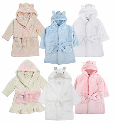 3D Baby Girls Boys Toddlers Cute Novelty Animal Hooded Fleece Dressing Gown Robe