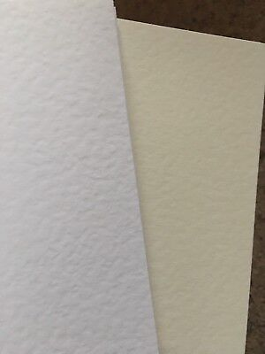 CLEARANCE A5 Cream & White Quality Textured Card x 100 Assorted Job Lot (4)