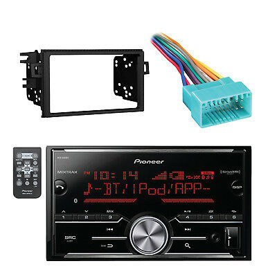 Pioneer Receiver w/ Bluetooth with Metra Installation Dash Kit & Wiring Harness