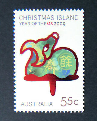 2009 Christmas Island Stamps - Lunar New Year- Year of the Ox - Single 1x55c MNH
