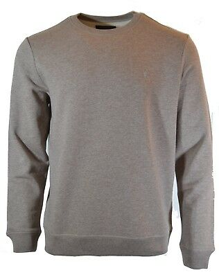 4c308466d44 Bnwt All Saints Wolfe Crew Sweatshirt Taupe Marl Soft Touch Jumper Latte  Brown
