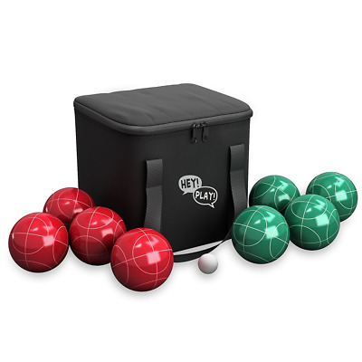 Bocce Ball Set- Outdoor Family Bocce Game for Backyard, Lawn, Beach and More- Re