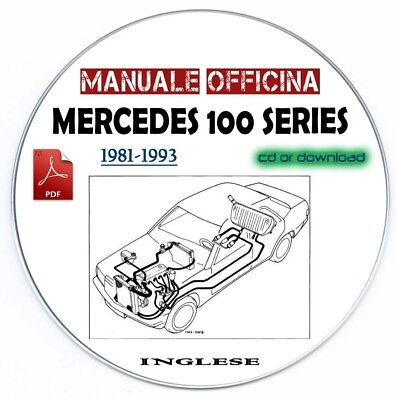 Manuale Officina Workshop Manual Mercedes 107 123 124 126 129, 140 1981-1993