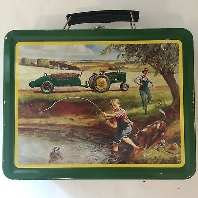 John Deere Tin Tote/Carry All Lunch Box Turtle Trouble