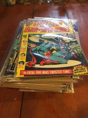 Lot Of 41 Superboy & Legion Of Super Heroes Dc Comics 70/80's Mid/low Grade
