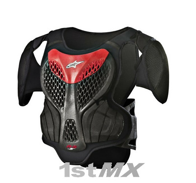 Alpinestars A5 ACU Approved Motocross Chest Armour Black Red Youth Large XLarge