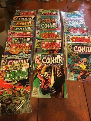 Lot Of 20 Conan The Barbarian Marvel Comics 120-140 Range Missing 125