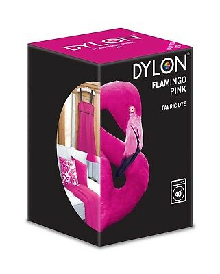 Dylon Flamingo Pink 200g Machine Fabric Dye - FREE DYE SALT & P&P