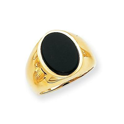 14k Yellow Gold Men's Onyx Ring OR184 Size 10