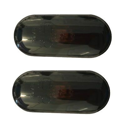 Smoked Black Oval Side Repeater Indicator Set Pair VW SEAT Ford EAP