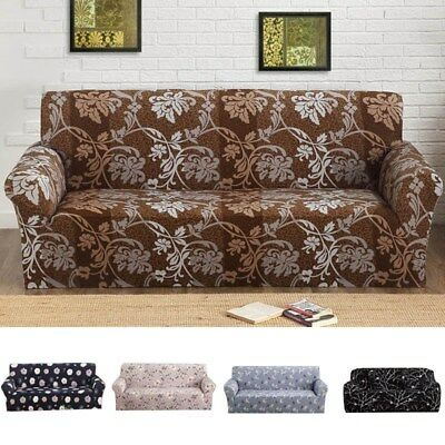 Stretch Slipcover Sofa Couch Cover 1/2/3/4 Seater Loveseat Elastic Protector