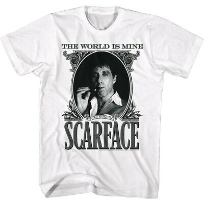 MEN'S OFFICIAL Scarface Movie AL PACINO T-SHIRT Dollar White Cotton in SM - 5XL