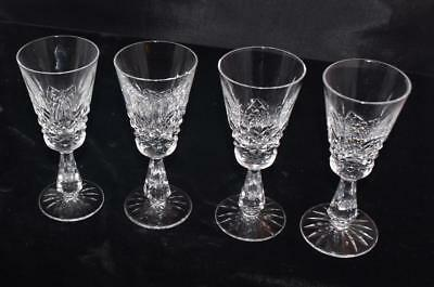 """4 Vintage Waterford Crystal Kenmare Pattern Sherry Cordials /Glasses - 5 3/8""""H"""