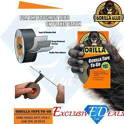 "Gorilla Tape Handy Roll To Go 1"" wide x 9m Tape Strong Duct Tape by Gorilla Glue"