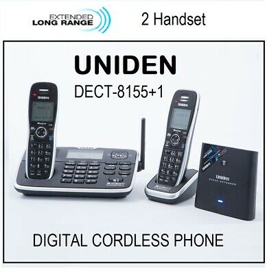 Uniden Dect 8055+1 Extended Digital Technology Cordless Phone System*