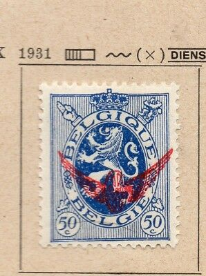 Belgium 1931 Early Issue Fine Mint Hinged 50c. Optd 214329