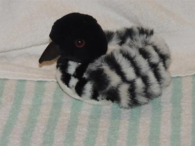 Plush Stuffed MARY MEYER LANA Lake LOON Chick DUCK BIRD BLACK & WHITE