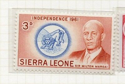 Sierra Leone 1961 Early Issue Fine Mint Hinged 3d. 215191